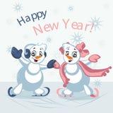 Χορεύοντας χιονάνθρωποι επίσης corel σύρετε το διάνυσμα απεικόνισης ελεύθερη απεικόνιση δικαιώματος