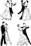 Χοροί αιθουσών χορού Στοκ φωτογραφία με δικαίωμα ελεύθερης χρήσης