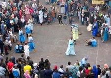 Χοροί χαρακτηριστικοί στην αραβική οδό στοκ εικόνες με δικαίωμα ελεύθερης χρήσης