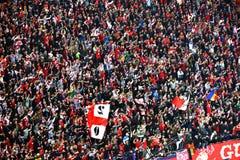 Χορογραφία των ανεμιστήρων ποδοσφαίρου στοκ φωτογραφίες με δικαίωμα ελεύθερης χρήσης