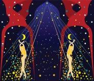 χορού διακοσμητικό σχεδίου διάνυσμα απεικόνισης κοριτσιών γραφικό Στοκ Εικόνες