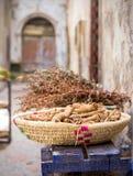 Χορτάρια και είδη σε Essaouira, Moroco Στοκ εικόνες με δικαίωμα ελεύθερης χρήσης