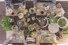 Χορτοφάγα τρόφιμα για το brunch Στοκ Εικόνα