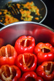 Χορτοφάγα τρόφιμα με το καψικό Στοκ εικόνα με δικαίωμα ελεύθερης χρήσης