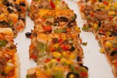 Χορτοφάγος ή vegan πίτσα Στοκ φωτογραφία με δικαίωμα ελεύθερης χρήσης