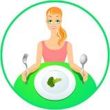 χορτοφάγος κοριτσιών Απεικόνιση αποθεμάτων