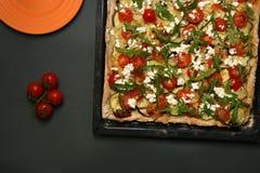 Χορτοφάγος πίτσα Στοκ εικόνα με δικαίωμα ελεύθερης χρήσης