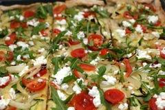 Χορτοφάγος πίτσα Στοκ Φωτογραφία