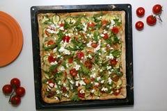 Χορτοφάγος πίτσα Στοκ Φωτογραφίες