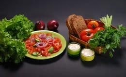 χορτοφάγος σάλτσας σαλάτας Στοκ Εικόνες