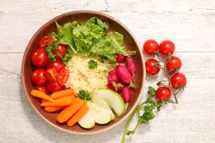 Χορτοφάγος σαλάτα κύπελλων Στοκ εικόνες με δικαίωμα ελεύθερης χρήσης