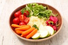 Χορτοφάγος σαλάτα κύπελλων Στοκ Φωτογραφία