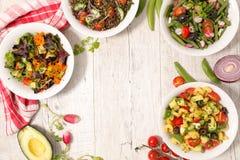 Χορτοφάγος σαλάτα κύπελλων Στοκ εικόνα με δικαίωμα ελεύθερης χρήσης