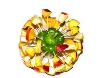 χορτοφάγος σαλάτας πορσελάνης πορτοκαλιών σταφυλιών καρπού τροφίμων Στοκ φωτογραφίες με δικαίωμα ελεύθερης χρήσης