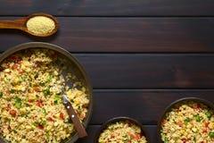 Χορτοφάγος σαλάτα κουσκούς Στοκ φωτογραφία με δικαίωμα ελεύθερης χρήσης