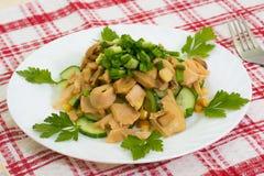 Χορτοφάγος σαλάτα μανιταριών γευμάτων Στοκ Εικόνα