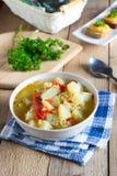 Χορτοφάγος σούπα με τις φακές και bulgur Στοκ Φωτογραφίες