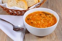 Χορτοφάγος σούπα minestrone Στοκ Εικόνες