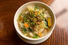Χορτοφάγος φυτική σούπα Στοκ φωτογραφία με δικαίωμα ελεύθερης χρήσης