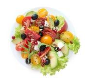 Χορτοφάγος salat σε ένα άσπρο υπόβαθρο Στοκ Εικόνες