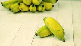 χορτοφάγο λευκό τροφίμων μπανανών ανασκόπησης Στοκ Εικόνες