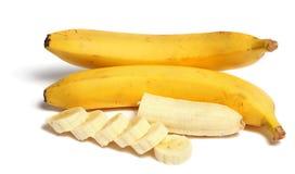χορτοφάγο λευκό τροφίμων μπανανών ανασκόπησης στοκ φωτογραφίες με δικαίωμα ελεύθερης χρήσης