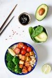 Χορτοφάγο κύπελλο του Βούδα με τα λαχανικά και tofu Στοκ εικόνες με δικαίωμα ελεύθερης χρήσης