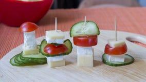 Χορτοφάγο οβελίδιο τυριών Στοκ εικόνα με δικαίωμα ελεύθερης χρήσης