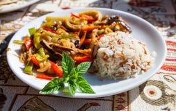 Χορτοφάγο τουρκικό γεύμα Στοκ Εικόνα