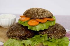 Χορτοφάγο burger Στοκ Εικόνες