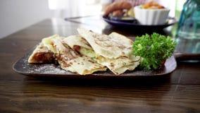 Χορτοφάγο tortilla απόθεμα βίντεο