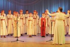 Χορωδία λαογραφίας παιδιών Στοκ εικόνα με δικαίωμα ελεύθερης χρήσης