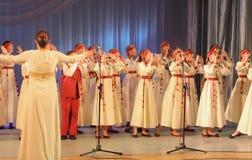Χορωδία λαογραφίας παιδιών Στοκ φωτογραφίες με δικαίωμα ελεύθερης χρήσης