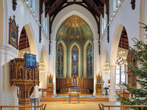 Χορωδία και βωμός της εκκλησίας Haga (Hagakyrkan) στο Γκέτεμπουργκ, Σουηδία Στοκ εικόνα με δικαίωμα ελεύθερης χρήσης