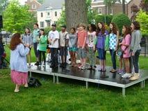 χορωδία s παιδιών Στοκ εικόνες με δικαίωμα ελεύθερης χρήσης