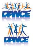 Χορός λέξης με τα εικονίδια χορού Στοκ Εικόνες