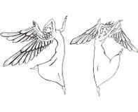 χορός αγγέλων διανυσματική απεικόνιση