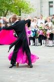 Χορός για τους first-grade μαθητές Tyumen Ρωσία στοκ εικόνα με δικαίωμα ελεύθερης χρήσης