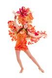 Χορός γυναικών χορευτών καρναβαλιού Στοκ Φωτογραφία