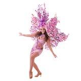 Χορός γυναικών χορευτών καρναβαλιού Στοκ φωτογραφία με δικαίωμα ελεύθερης χρήσης