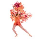 Χορός γυναικών χορευτών καρναβαλιού Στοκ Φωτογραφίες