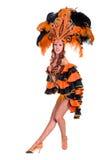Χορός γυναικών χορευτών καρναβαλιού Στοκ Εικόνα
