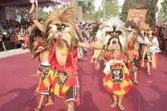 Χορός εκατοντάδων που οργανώνεται σε Sukoharjo στοκ φωτογραφία με δικαίωμα ελεύθερης χρήσης
