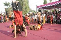 Χορός εκατοντάδων που οργανώνεται σε Sukoharjo Στοκ φωτογραφίες με δικαίωμα ελεύθερης χρήσης