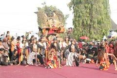 Χορός εκατοντάδων που οργανώνεται σε Sukoharjo Στοκ Εικόνες