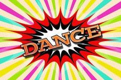 Χορός ` επιγραφής ` στο ύφος κινούμενων σχεδίων Στοκ Εικόνα