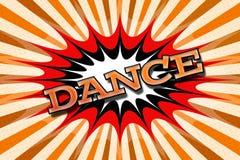 Χορός ` επιγραφής ` στο ύφος κινούμενων σχεδίων Στοκ Φωτογραφίες