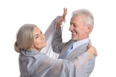 Χορός ζεύγους χαμόγελου ανώτερος στοκ φωτογραφίες με δικαίωμα ελεύθερης χρήσης