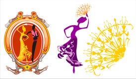 χορός ισπανικά Διανυσματική απεικόνιση