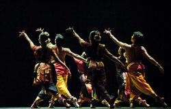 χορός λαϊκός Ινδός στοκ φωτογραφία με δικαίωμα ελεύθερης χρήσης